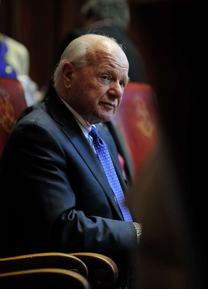 State Sen. Joseph Crisco listens to a fellow senator speak while on the senate floor during the first meeting of the 2012 legislative session before Gov. Dannel P. Malloy's State of the State address at the state capitol in Hartford on Wednesday, Feb. 8, 2012. Photo: Jason Rearick / Jason Rearick / The News-Times