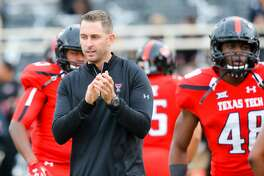 LUBBOCK, TX - NOVEMBER 14: Head coach Kliff Kingsbury of the Texas Tech Red Raiders before the game between the Texas Tech Red Raiders and the Kansas State Wildcats on November 14, 2015 at Jones AT&T Stadium in Lubbock, Texas. Texas Tech won the game 59-44. (Photo by John Weast/Getty Images)
