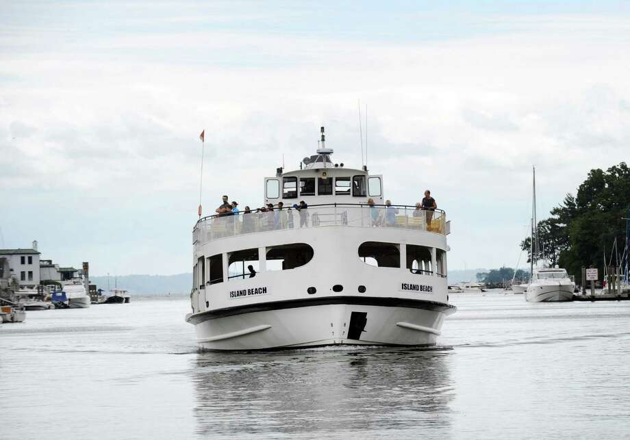 The Island Beach ferry makes its way toward its dock in Greenwich Harbor, Conn., Tuesday afternoon, August 2, 2016. Ferry service has been reduced on two occassions this summer due to mechanical issues with two of the ferries. Photo: Bob Luckey Jr. / Hearst Connecticut Media / Greenwich Time