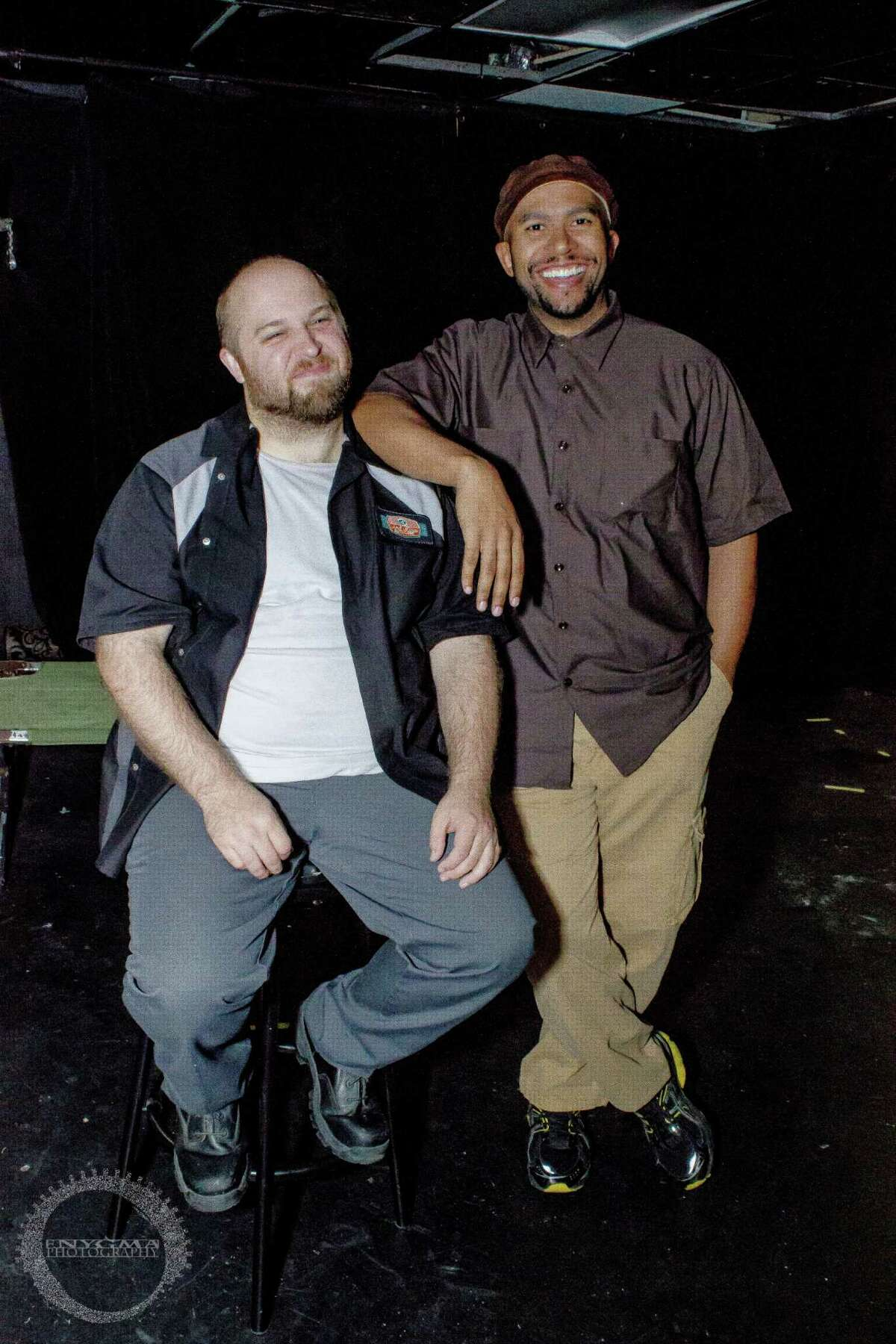 Benjamin Scharff (from left) and Torence White star in
