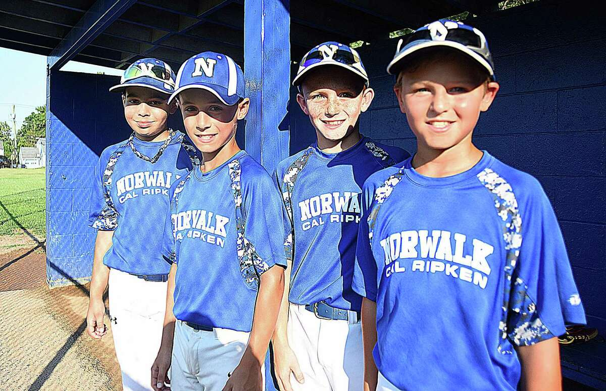 Norwalk 10-year-old Cal Ripken All-Star players, from left, Devin Bowen, Savvas Kodonas, Brian Weiss, and Andrew McNamara each bring something different off the bench for the squad, which is heading to the Cal Ripken World Series in Palm Springs Gardens, Fla. Norwalk opens play on Saturday.