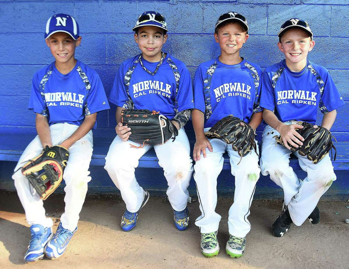 Norwalk 10-year-old Cal Ripken All-Star players, from left, Savvas Kodonas, Devin Bowen, Andrew McNamara and Brian Weiss, each bring something different off the bench for the squad, which is heading to the Cal Ripken World Series in Palm Springs Gardens, Fla. Norwalk opens play on Saturday.