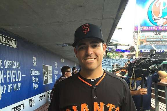 Starting pitcher Matt Moore, acquired by the Giants from Tampa Bay on Monday in exchange for third baseman Matt Duffy and prospects, joined his new team on the road Tuesday in Philadelphia.