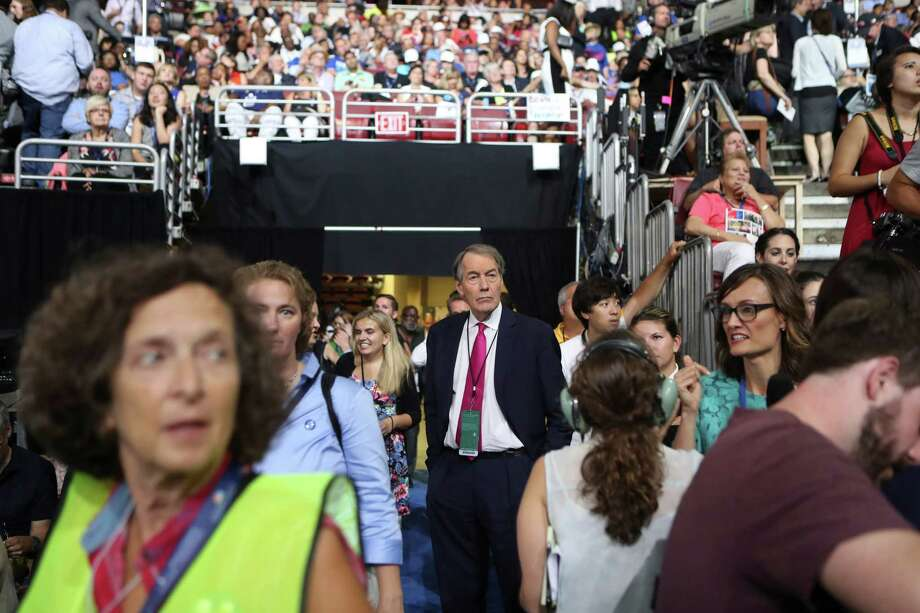 TV journalist Charlie Rose roams the Wells Fargo Center on the first day of the Democratic National Convention in Philadelphia. A reader discusses the recent interview Rose had with Democratic nominee Hillary Clinton. Photo: SAM HODGSON /NYT / NYTNS