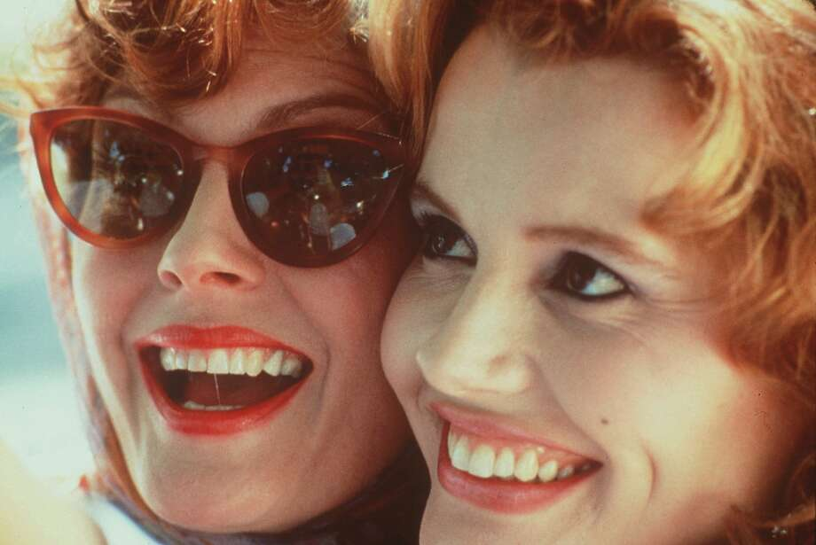 "Susan Sarandon (left) and Geena Davis in ""Thelma & Louise."" Photo: MGM 1991"