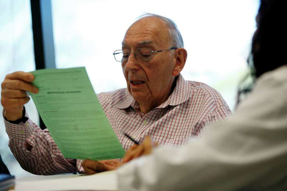 This file photo shows a senior citizen meeting with a health care provider. There are stark differences between Donald Trump's and Hillary Clinton's philosophies on entitlements. Seniors better take notice. Their well-being is at stake. Photo: Julio Cortez /Associated Press / Copyright 2016 The Associated Press. All rights reserved. This material may not be published, broadcast, rewritten or redistribu