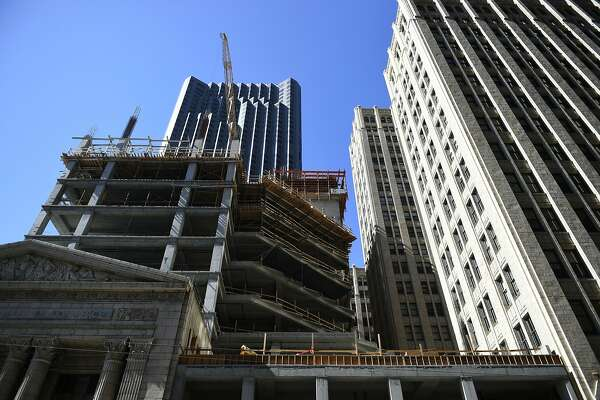 New office development is constructed on 350 Bush St. on Tuesday, August 2, 2016 in San Francisco, California.