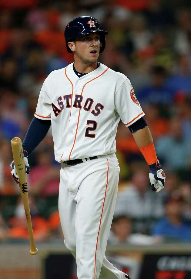 Alex Bregman, who hit .306 in the minor leagues before getting called up, spent extra time Wednesday working on his swing. Photo: Karen Warren, Houston Chronicle / © 2016 Houston Chronicle