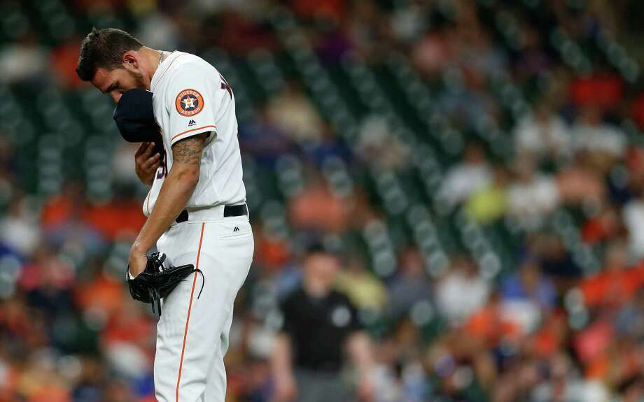 Gem at the trade deadlineJoe Musgrove could turn out being part of an enormously lopsided trade. Near the 2012 trade deadline, the Astros – who would go on to lose 107 games that season – traded J.A. Happ, Brandon Lyon and David Carpenter for Musgrove, Asher Wojciechowski, David Rollins, Carlos Perez, Ben Francisco and Francisco Cordero. If Musgrove turns into a fixture in the Astros' rotation, that trade will be a steal for Jeff Luhnow. Photo: Karen Warren, Houston Chronicle / © 2016 Houston Chronicle