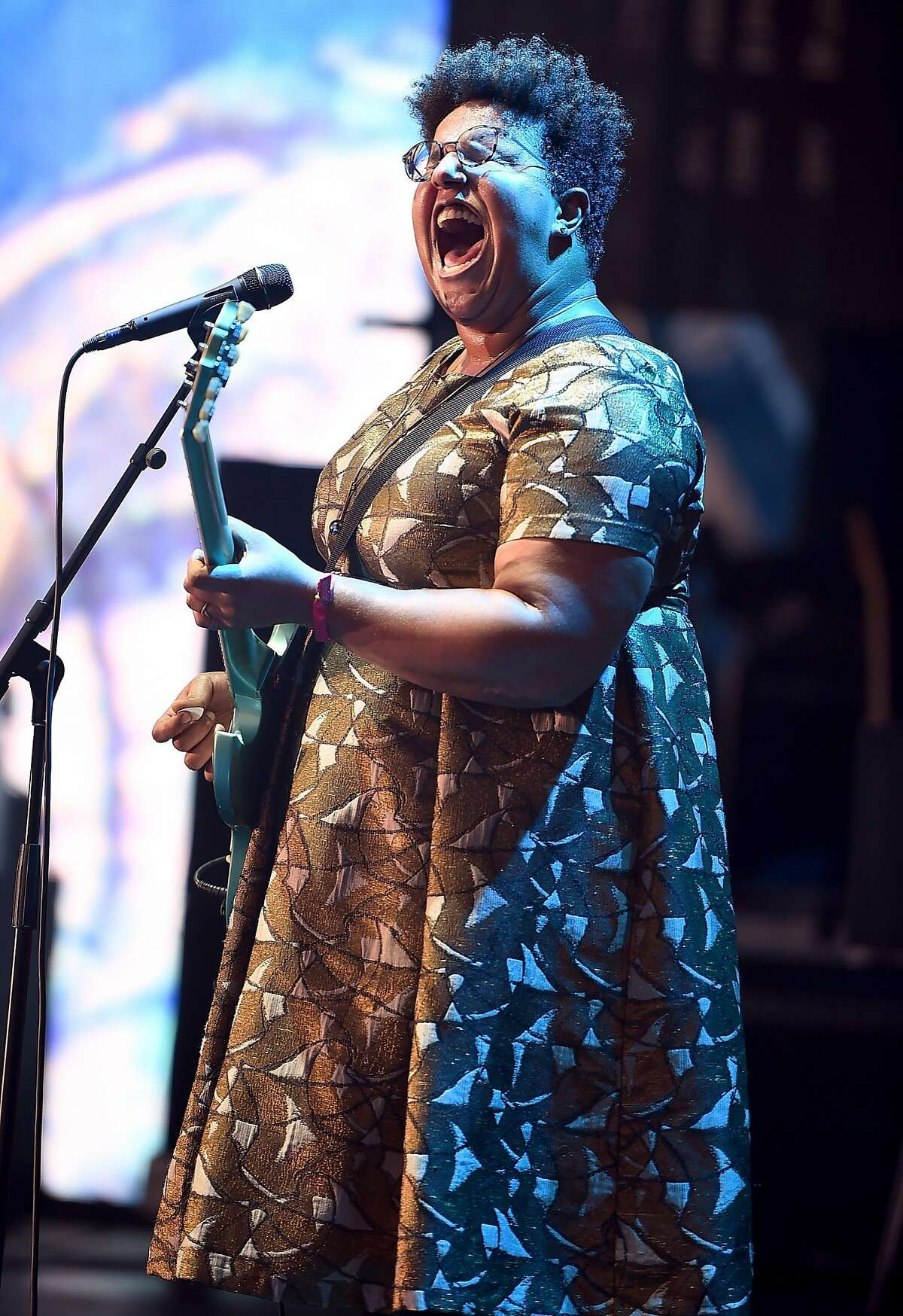 NEW YORK, NY - JULY 22: Brittany Howard of the Alabama Shakes performs onstage at the 2016 Panorama NYC Festival - Day 1 at Randall's Island on July 22, 2016 in New York City. (Photo by Theo Wargo/Getty Images)