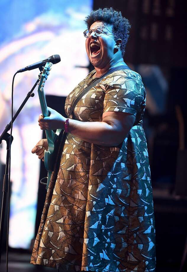 Brittany Howard of Alabama Shakes, playing at Greek Theatre. Photo: Theo Wargo, Getty Images