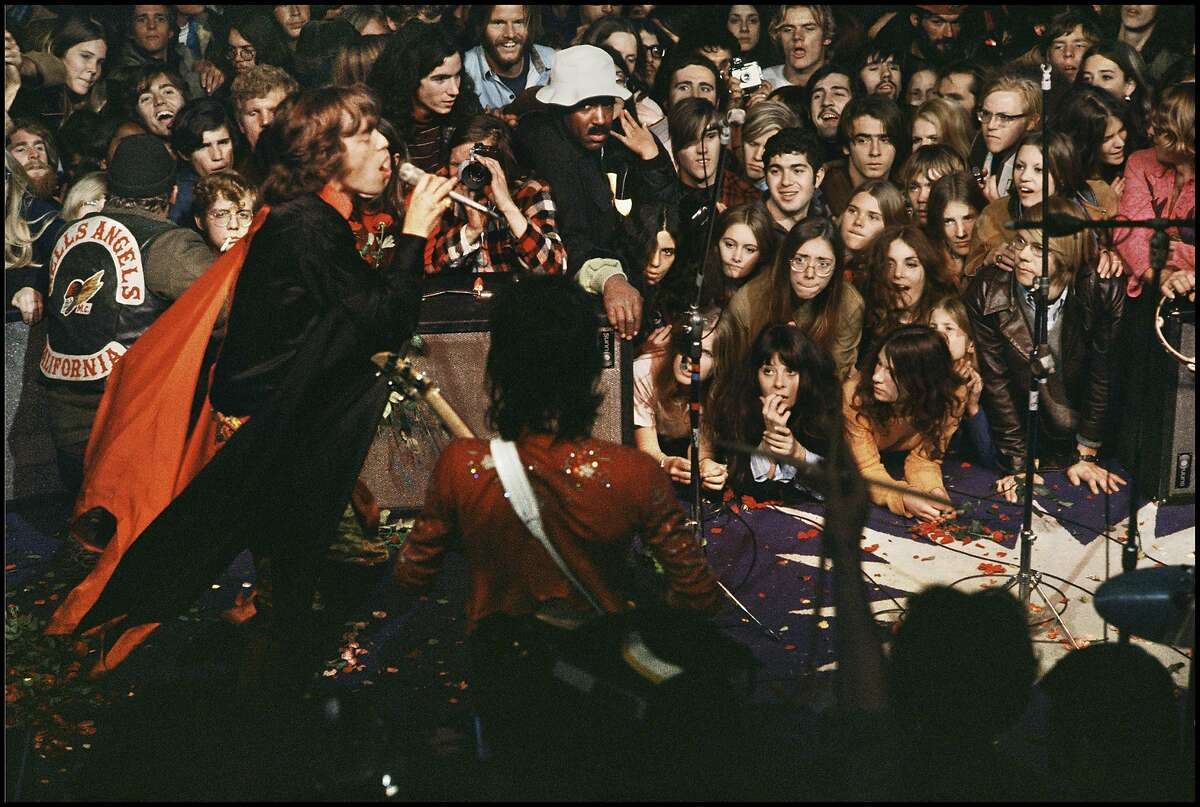 Mick Jagger at the Rolling Stones Altamont concert, 1969. Photo credit: Ethan Russell