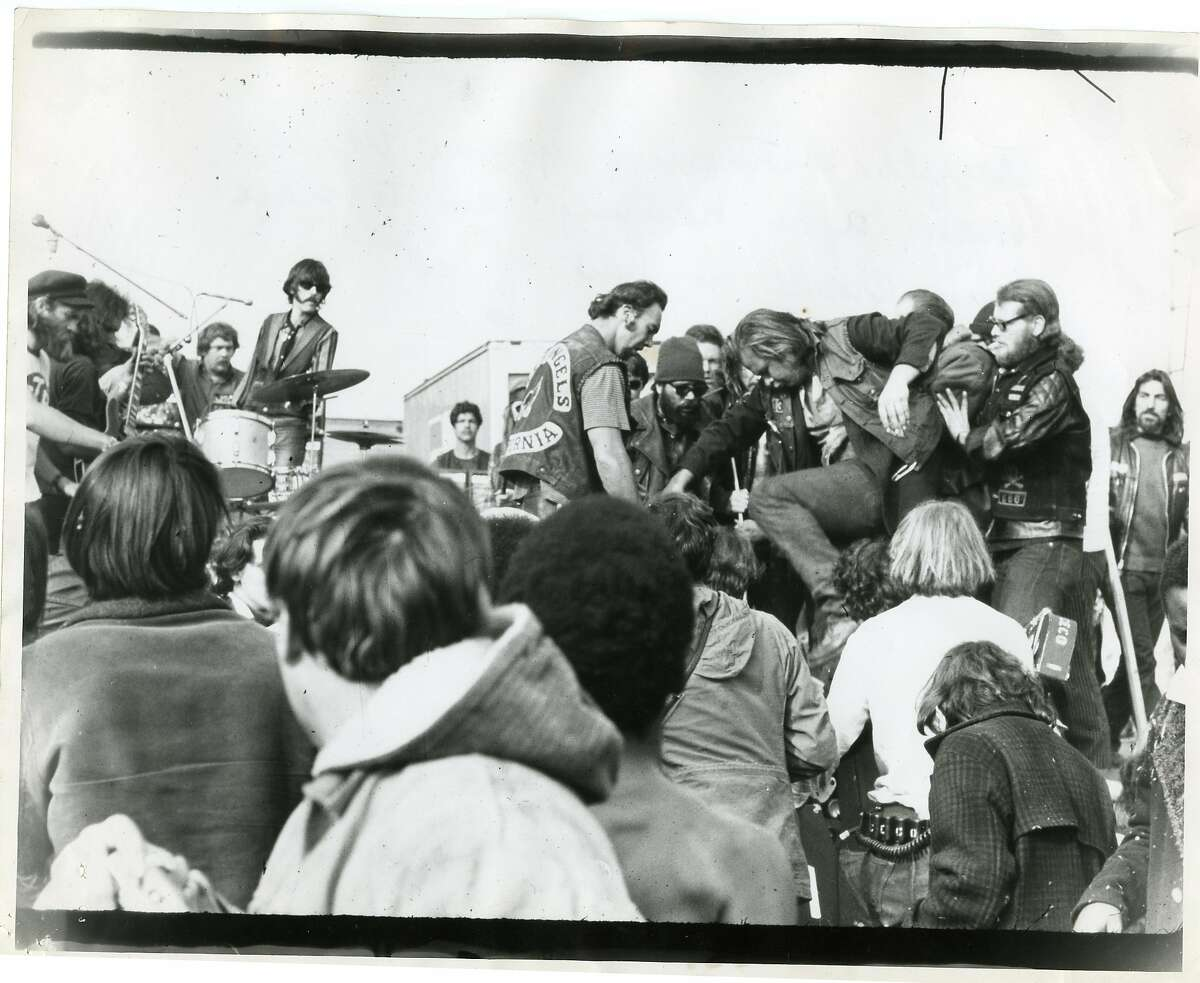 Images from the Rolling Stones concert at Altamont in Livermore, Dec. 1969.