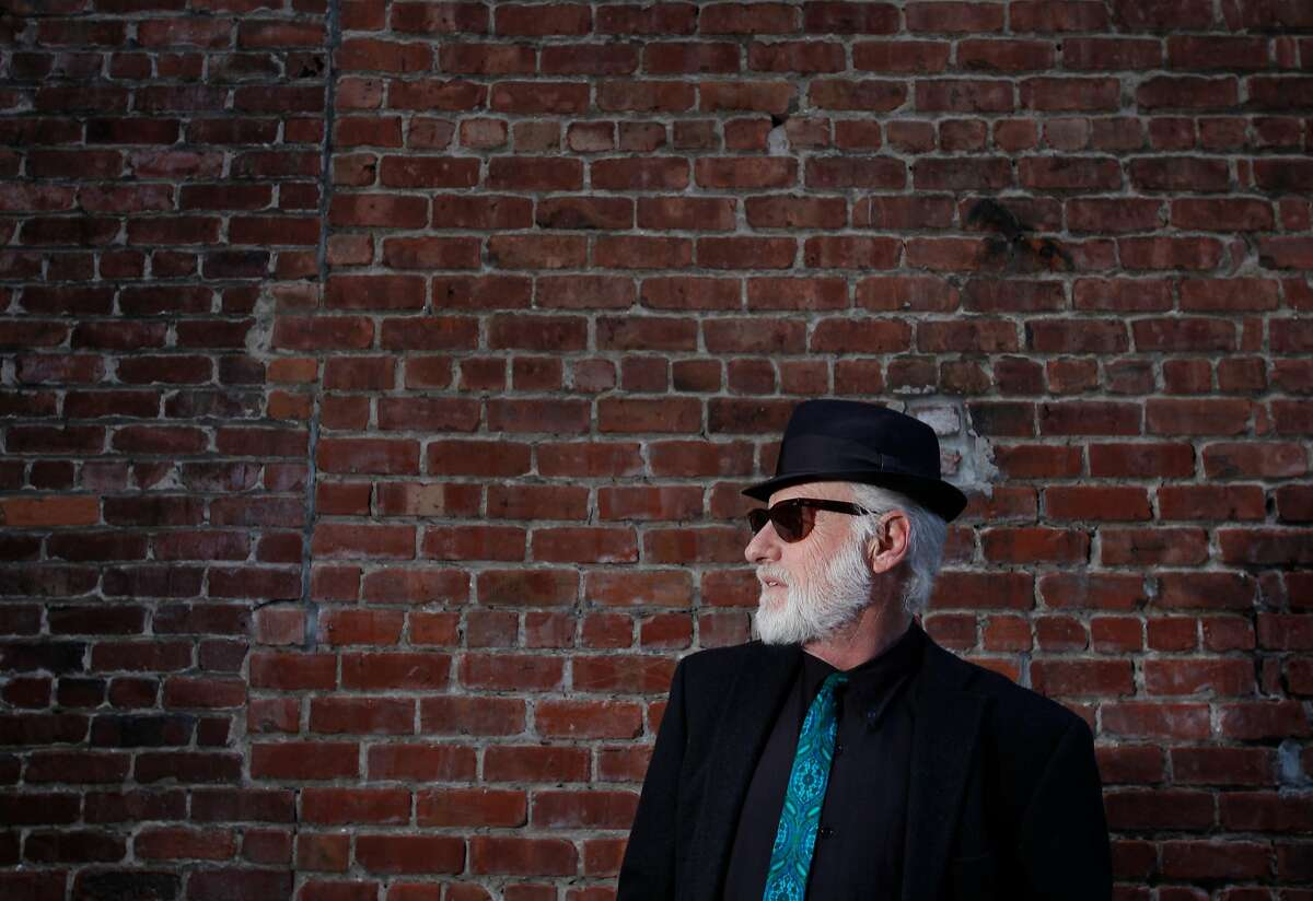 Music critic and author Joel Selvin pictured April 9, 2014 in the alley behind Slim's in San Francisco, Calif.