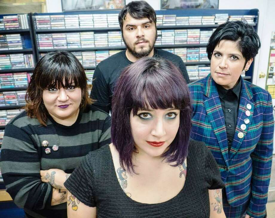 San Antonio punk band FEA includes singer Letty Martinez (front), drummer Phanie Diaz (left), bassist Jenn Alva and guitarist Aaron Magana. Photo: Courtesy Photo