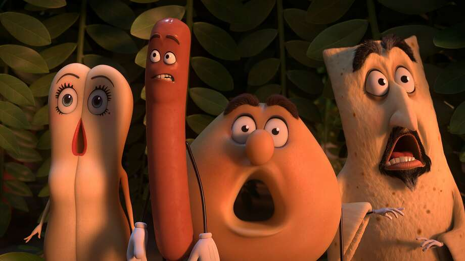 """""""Sausage Party"""" is an extremely adult animated comedy about the nature of religion. Photo: Courtesy Of Columbia Pictures."""