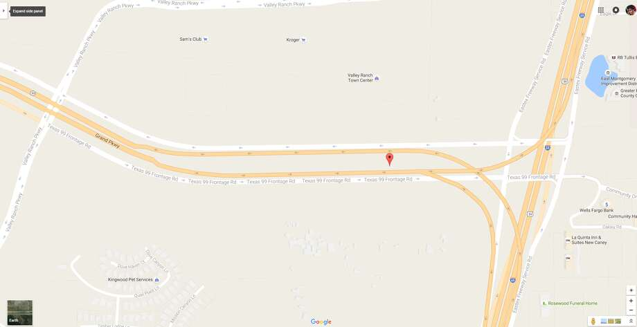 A screenshot of a Google Maps image of Texas 99 near U.S. 59 in Montgomery County, Texas. On July 2, 2016, a 35-year-old man lost his life following a motorcycle crash in the area. Photo: File/Google