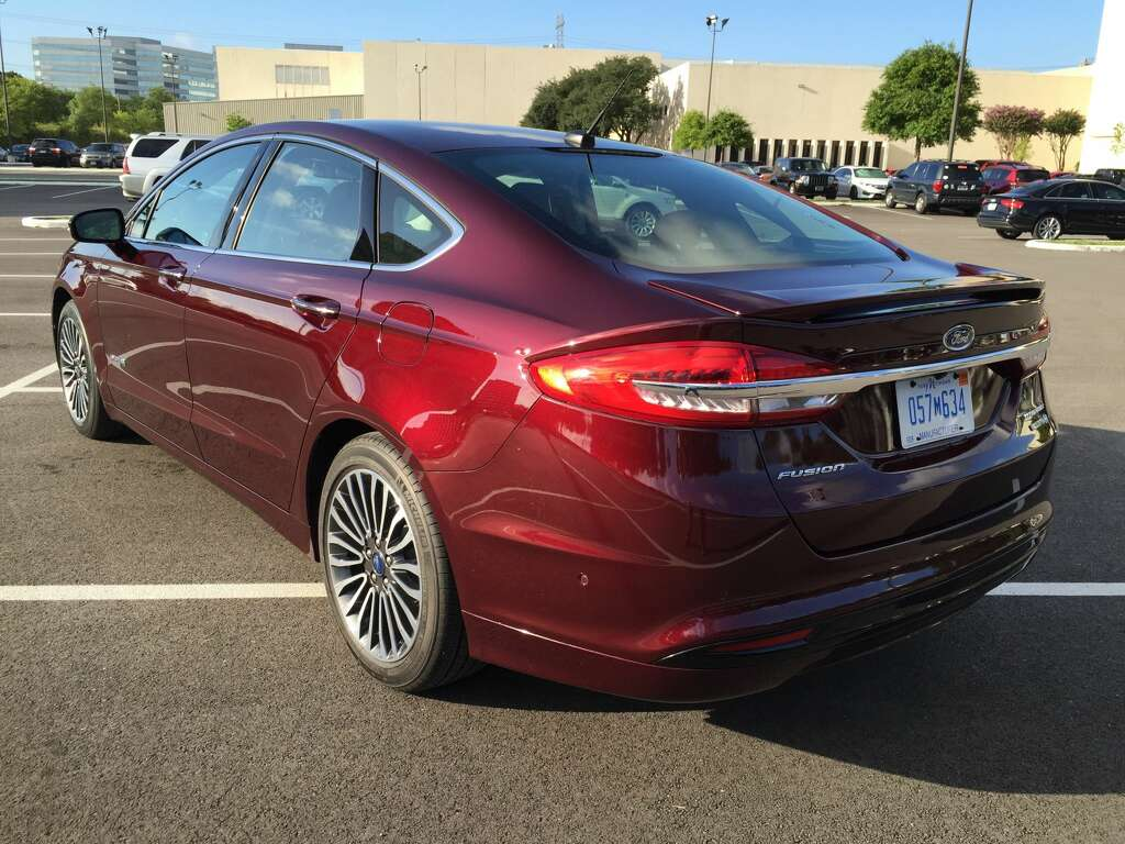 The 2017 Ford Fusion Hybrid Anium Parked In Front Houston Chronicle Building Photo