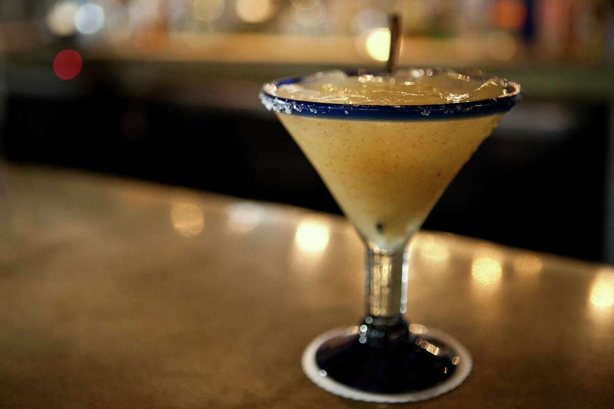 A margarita from Hugo's restaurant in Houston. Hugo's was named by Food ^ Wine magazine as one of America's Best Margarita Bars. There were 10 in the country on the list. Hugo's is the only restaurant from Houston on the list, and one of only two in Texas.