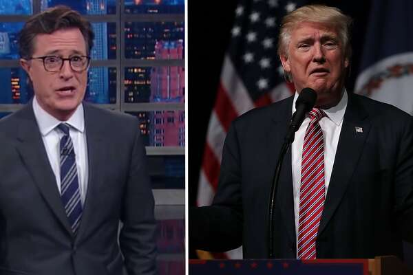 Stephen Colbert ripped into Donald Trump for his most recent series of public gaffes.