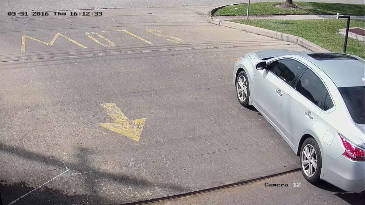 A screenshot of surveillance camera footage of Dreka White's arrest in the 10000 block of South Main Street in Houston, Texas. Lawyers for the 28-year-old social worker say the arresting Metro PD officer escalated the situation and caused a physical confrontation.