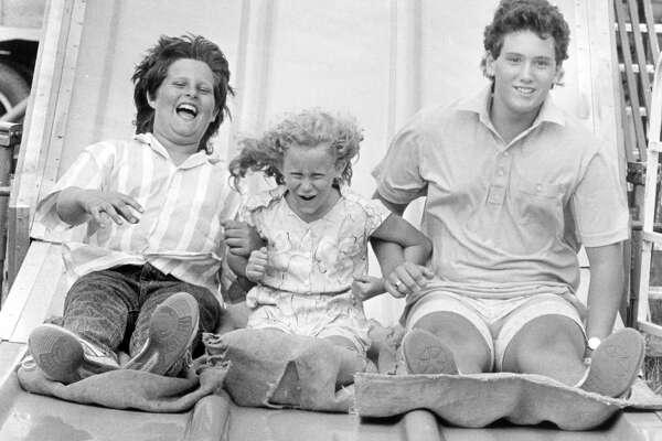 Tom Demski, 13, Tara Demski, 9, and Mark Demski, 13, all of Midland. August 1989