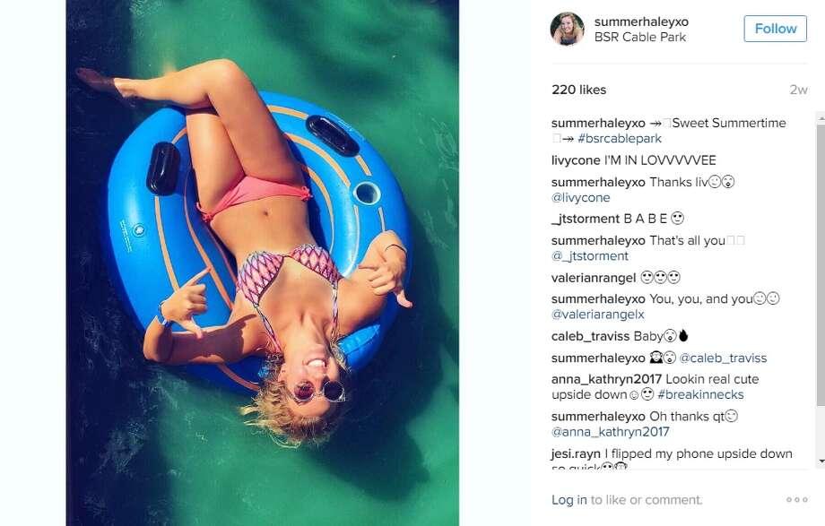 """Sweet summertime,"" @summerhaleyxo. Photo: Instagram.com"