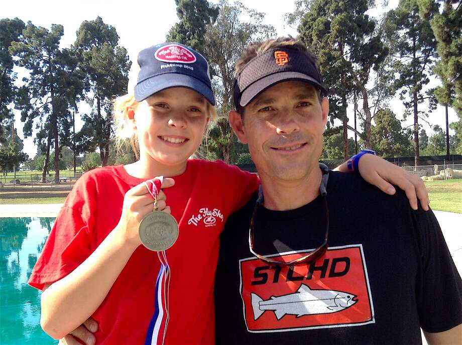 Maxine McCormick, became the No. 1 female fly caster for accuracy in America at the U.S. Casting Championships in Kentucky and in the process beat the legendary world champion, Steve Rajeff, considered the greatest caster in history. Dad Glenn also made All-America and both will compete in the world championships in August in Estonia Photo: Tom Stienstra, Chris Korich / Special To The Chronicle