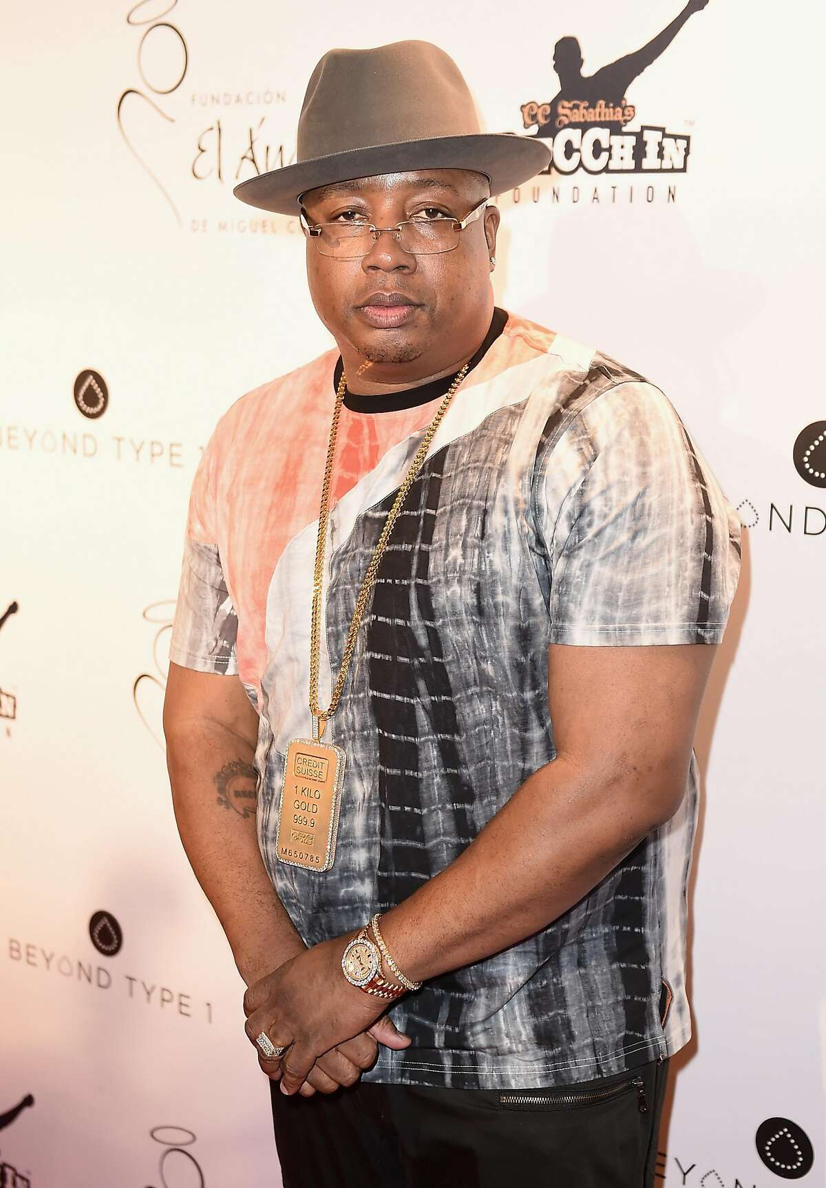 NEW YORK, NY - JULY 21: Rapper E-40 attends the Roc Nation Summer Classic Charity Basketball Tournament at Barclays Center of Brooklyn on July 21, 2016 in New York City. (Photo by Nicholas Hunt/Getty Images)
