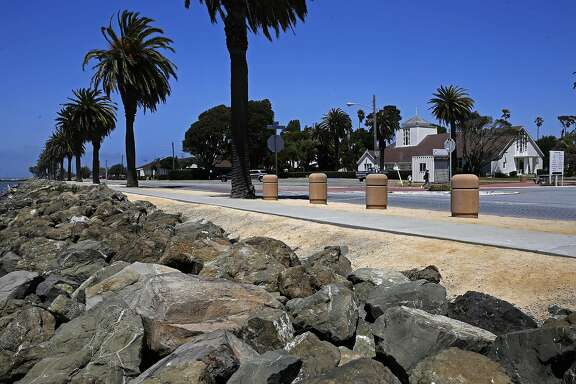 The proposed site of the Lucas Museum of Narrative Art begins at the intersection of Ave. of the Palms and California Ave. on Treasure Island in San Francisco, California, on Wed. Aug. 3,  2016.