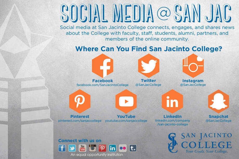 Social media plays a key role in San Jacinto College students' lives.