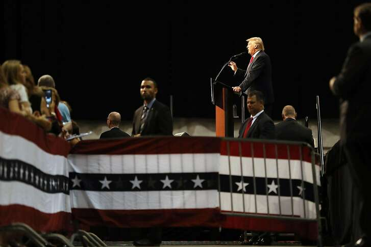 DAYTONA BEACH, FL - AUGUST 03:  Republican presidential nominee Donald Trump speaks during his campaign event at the Ocean Center Convention Center on August 3, 2016 in Daytona, Florida. Trump continued to campaign for his run for president of the United States.  (Photo by Joe Raedle/Getty Images)