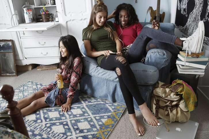 Girls wear clothing and accessories from Epic Sky's fall collection, including tops by designer Jenny Assaf.