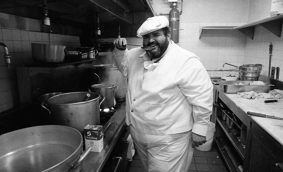 Paul Prudhomme set up a version of his K Paul restaurant at the Old Waldorf nightclub in San Francisco   Photos shot 07/20/1983 Photo: Peter Breinig, The Chronicle