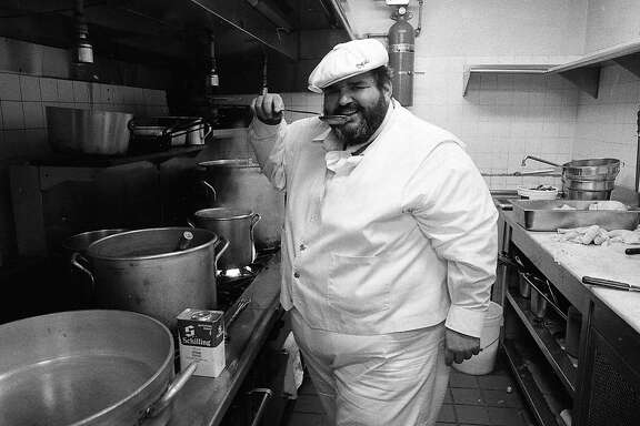 Paul Prudhomme set up a version of his K Paul restaurant at the Old Waldorf nightclub in San Francisco   Photos shot 07/20/1983