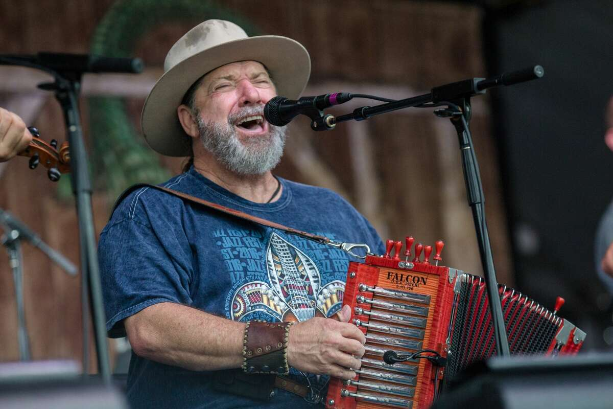 NEW ORLEANS, LA - MAY 01: Wayne Toups of The Band Courtbouillion performs at the New Orleans Jazz & Heritage Festival at Fair Grounds Race Course on May 1, 2016 in New Orleans, Louisiana. (Photo by Josh Brasted/WireImage)