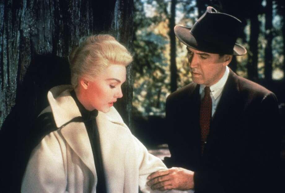 "Kim Novak and James Stewart star in Alfred Hitchcock's ""Vertigo."" Photo: Archive Photos, Getty Images"