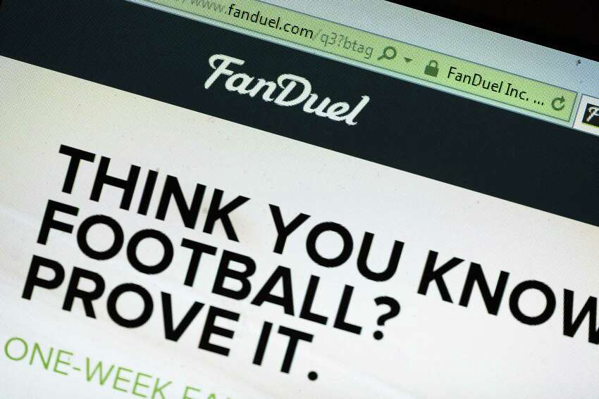 CHICAGO, IL - OCTOBER 16: The fantasy sports website FanDuel is shown on October 16, 2015 in Chicago, Illinois. FanDuel and its rival DraftKings have been under scrutiny after accusations surfaced of employees participating in the contests with insider information. An employee recently finished second in a contest on FanDuel, winning $350,000. Nevada recently banned the sites. (Photo illustration by Scott Olson/Getty Images) ORG XMIT: 586020605