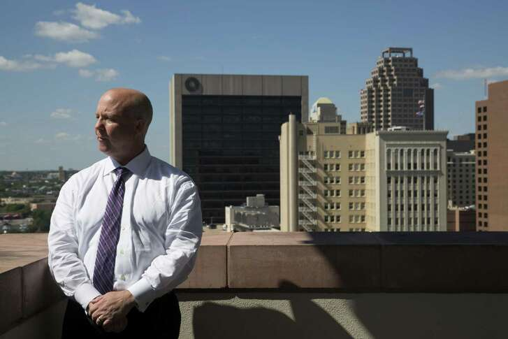 A reader argues that a proposal by Bexar County Precinct 3 Commissioner Kevin Wolff, shown here outside his office in 2016, to divert CPS Energy revenues from the city to the county should not be approved.