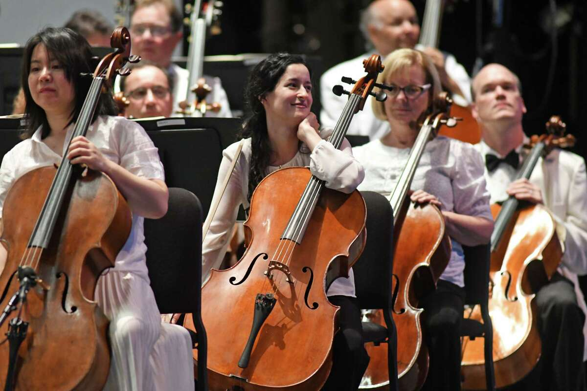 The Philadelphia Orchestra opening night at SPAC on Wednesday Aug. 3, 2016 in Saratoga Springs, N.Y. (Michael P. Farrell/Times Union)
