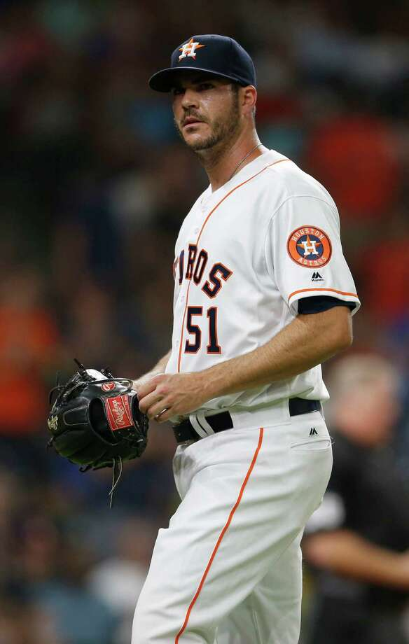 Reliever James Hoyt is expected to rejoin the Astros when rosters expand this week. Photo: Karen Warren, Staff / © 2016 Houston Chronicle