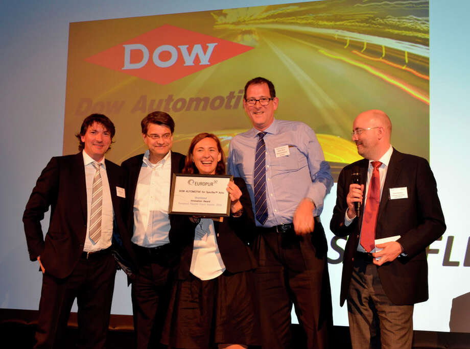 Dow Automotive Systems was recognized for the innovative development of SPECFLEX Activ additive polyols for polyurethane foam on the 50th anniversary of EUROPUR, the European Association of Flexible Polyurethane Foam Manufacturers. The business division was honored as unner-up in the award ceremony in Brussels and recognized for the product development. Photo provided