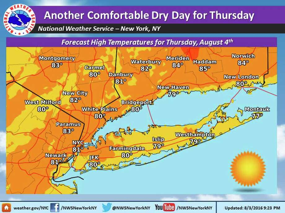 Classic summer weather for the week ahead - Connecticut Post