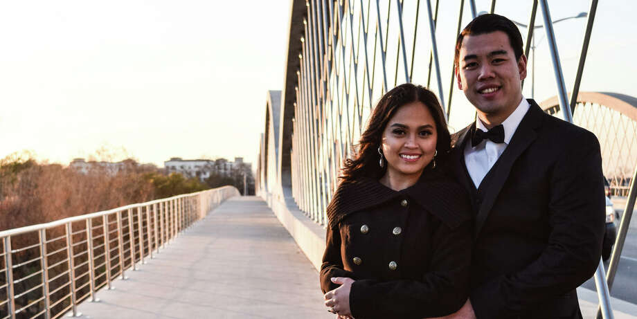 Dallas police officer Hans Campbell was declared clinically dead Tuesday, Aug. 2, 2016, after a scuba diving accident. He's pictured here with his fiancee, Chriselyn Bedolido. The couple were scheduled to be married Thursday, Aug. 4, 2016. Photo: The Knot