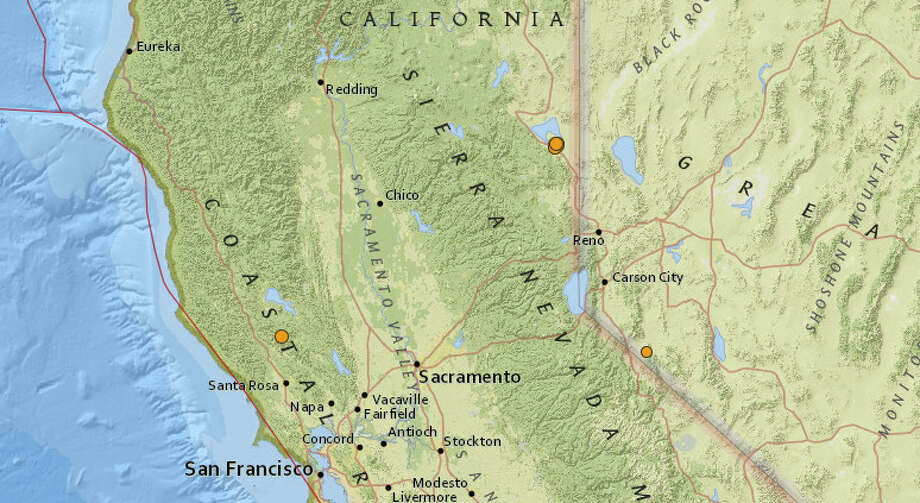 A series of moderate earthquakes rattled the area near Janesville in Lassen County on Wednesday night Photo: Earthquake