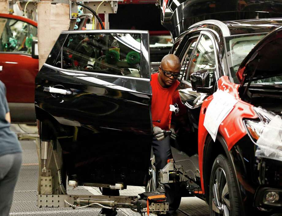 Orders for durable goods, everything from airplanes to appliances, fell 3.9 percent, although demand for autos and auto parts was up 3.2 percent. Photo: Rogelio V. Solis /Associated Press / Copyright 2016 The Associated Press. All rights reserved. This material may not be published, broadcast, rewritten or redistribu