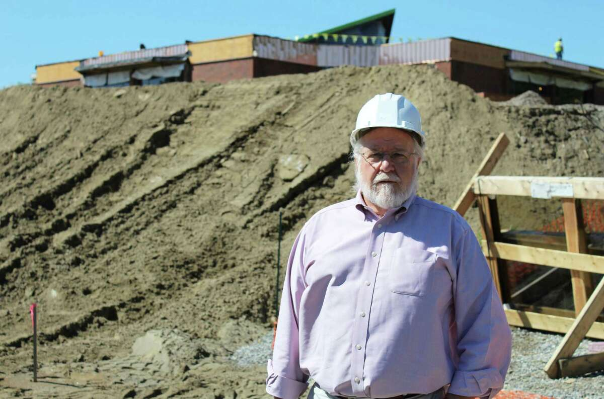 Chris Burney, Wilton's first director of facilities and energy management, is one of the key leaders of the Miller-Driscoll building project - the town's largest project yet.