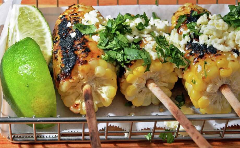 Grilled Mexican corn at The Lake Local on Union Avenue Thursday July 28, 2016 in Saratoga Springs, NY.  (John Carl D'Annibale / Times Union) Photo: John Carl D'Annibale / 20037472A
