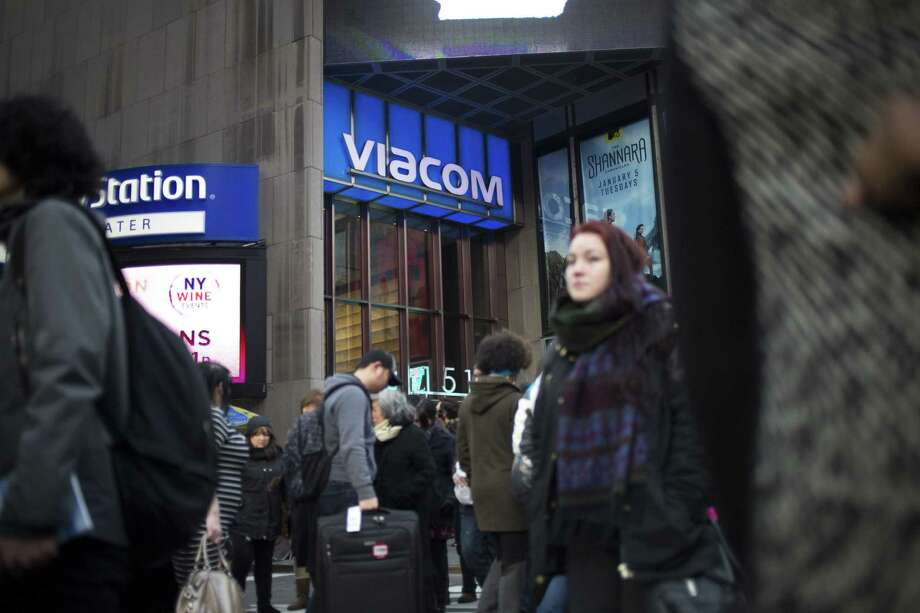 Viacom's operating income slid 29 percent from a year earlier to $769 million, with lower ratings and higher costs to acquire new shows hurting the TV-network business, according to a statement Thursday. Photo: John Taggart /Bloomberg News / Bloomberg