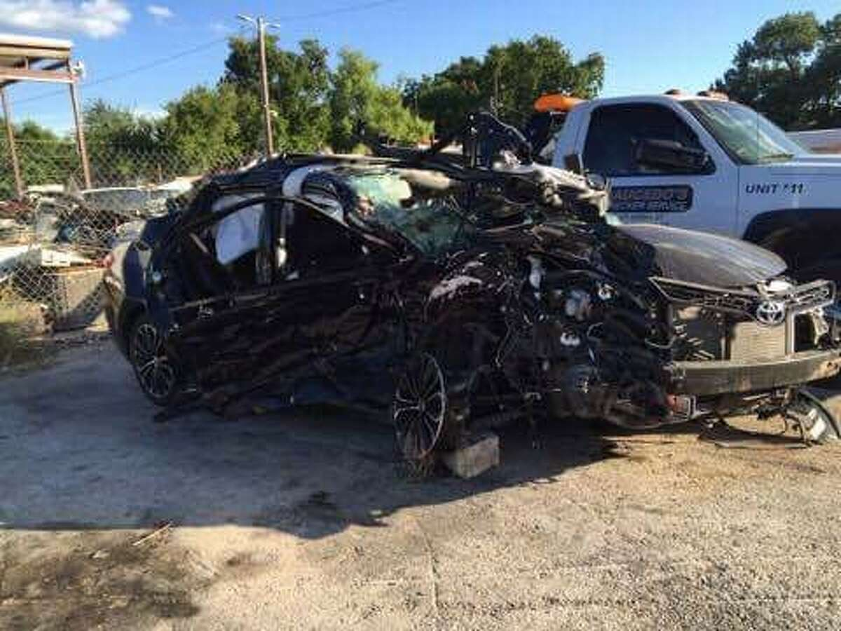 This photo, provided by family, shows the aftermath of the fatal wreck that killed Fabian Guerrero-Moreno, his unborn child, and hospitalized his wife. A vehicle, driven by 21-year-old Shana Elliott, veered across the highway center line and crashed with the couple, according to an affidavit obtained by mySA.com.